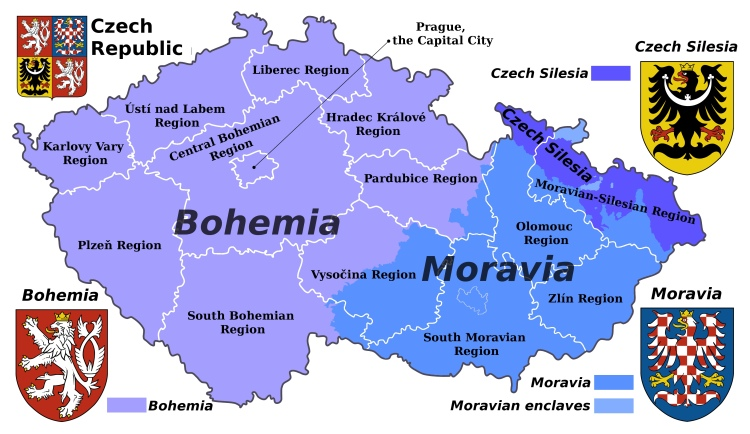 bohemia-moravia-silesia-on-the-map-of-czech-republic