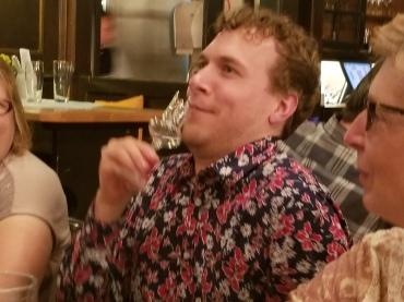 Drinking schnapps
