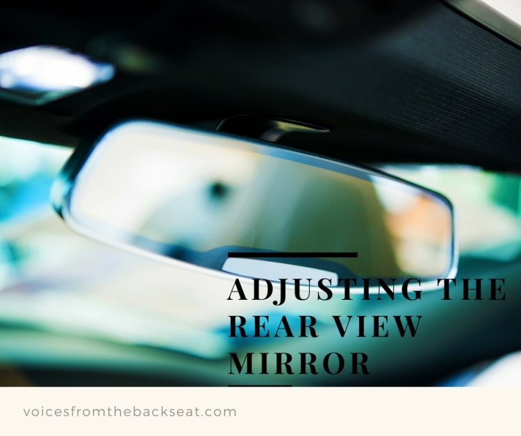 adjusting the rear view mirror