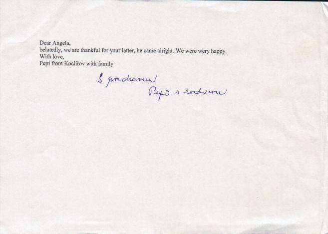 Pepi's letter