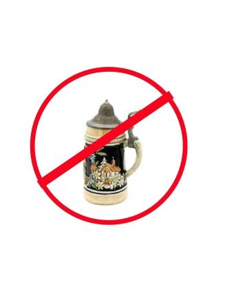 no beer stein