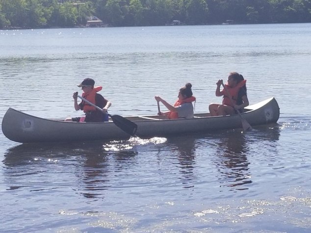 sixth grade camp canoeing
