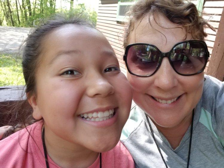 sixth grade camp selfie