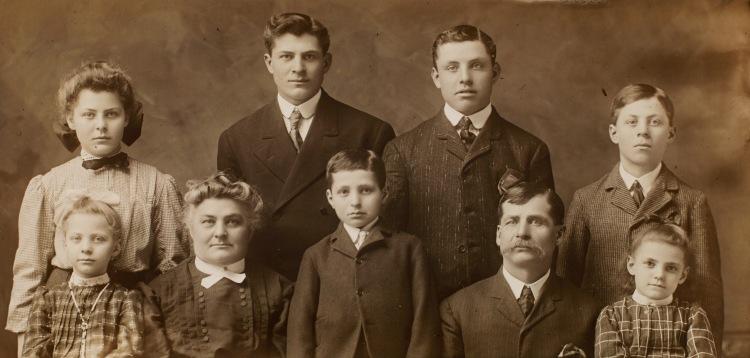 Langer, Emil & Hedwig (Fischer) family (3)